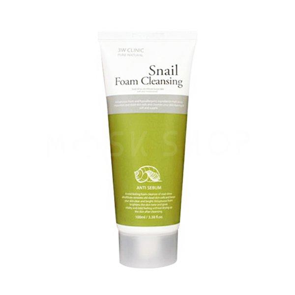 Купить Пенка для умывания с улиточным муцином 3W CLINIC Snail Foam Cleansing