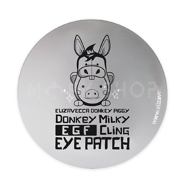 Патчи из биоцеллюлозы Elizavecca Donkey Piggy Milky EGF Cling Eye Patch фото