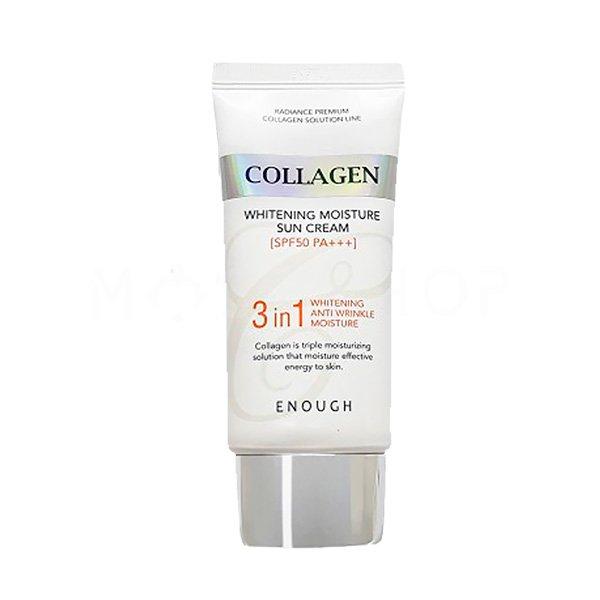 Солнцезащитный крем с коллагеном Enough Collagen Whitening Moisture Sun Cream SPF 50 PA+++ фото