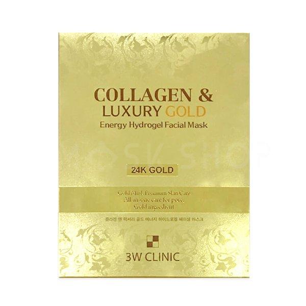 Купить Гидрогелевая маска для лица с золотом 3W Clinic Collagen & Luxury Gold Energy Hydrogel Facial Mask