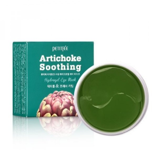 Гидрогелевые патчи для глаз с артишоком Petitfee Artichoke Soothing Hydrogel Eye Mask фото
