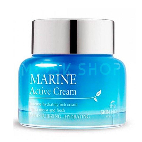 Увлажняющий крем с керамидами The Skin House Marine Active Cream фото