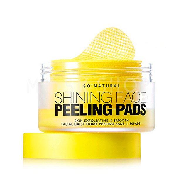 Купить Пилинг пэды для сияния кожи So Natural Shining Face Peeling Pads