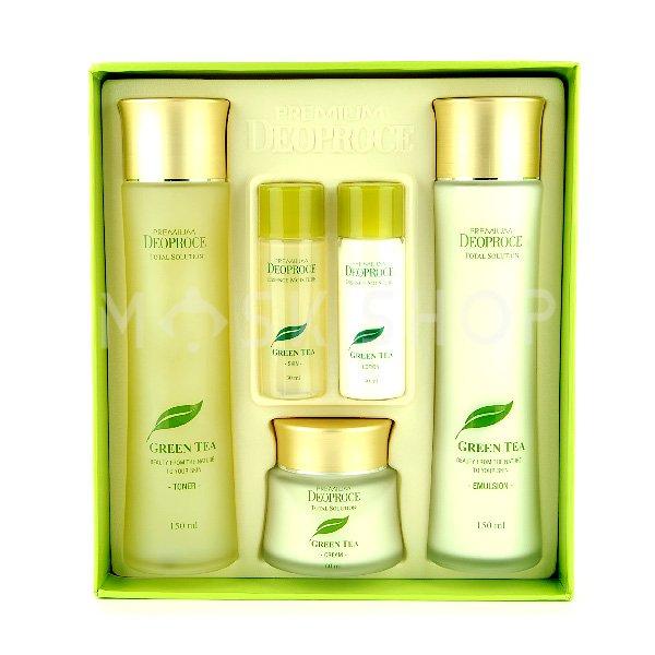 Подарочный набор с зеленым чаем Deoproce Green Tea Total Solution Skin Care 3 Set фото