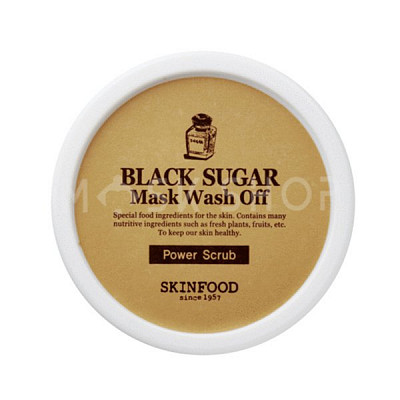 Маска-скраб для лица с черным сахаром SkinFood Black Sugar Mask. Фото №3