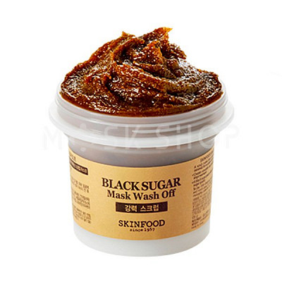 Маска-скраб для лица с черным сахаром SkinFood Black Sugar Mask
