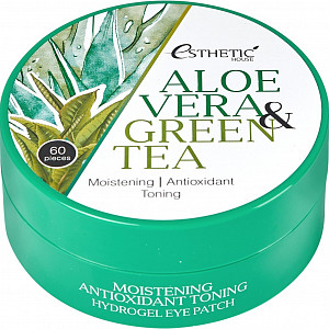 Патчи против отечности Esthetic House Aloe Vera Green Tea Hydrogel Eye Patch