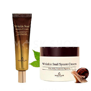 Крем для лица с муцином улитки The Skin House Wrinkle Snail System Cream
