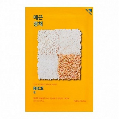 Тканевая маска против пигментации Holika Holika Pure Essence Mask Sheet Rice