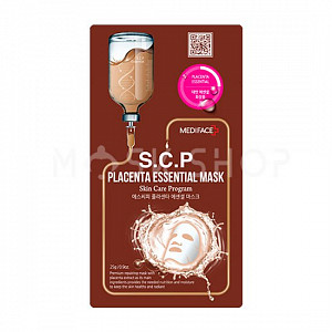 Тканевая маска для лица с экстрактом плаценты Mediface S.C.P Placenta Essential Mask