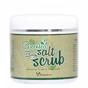 Скраб для тела с экстрактом зеленого чая Elizavecca Greentea Salt Body Scrub