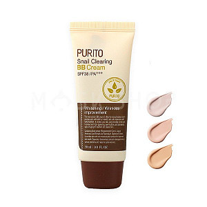 ББ крем c муцином улитки PURITO Snail Clearing BB Cream