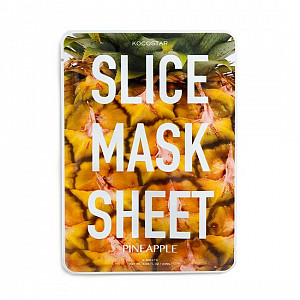 Тканевые маски-слайсы с экстрактом ананаса Kocostar Slice Mask Sheet Pineapple