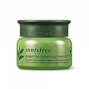 Крем для лица с экстрактом зеленого чая Innisfree Green Tea Balansing Cream EX
