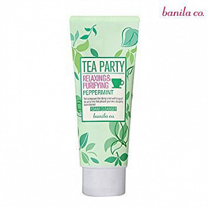 Очищающая пенка для умывания Banila&Co Tea Party Relaxing&Purifying Peppermint Foam Cleanser