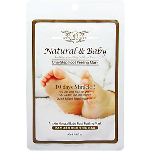 Пилинг для ног Anskin Natural Baby One Step Foot Peeling Mask