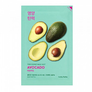 Тканевая маска с экстрактом авокадо Holika Holika Pure Essence Mask Sheet Avocado