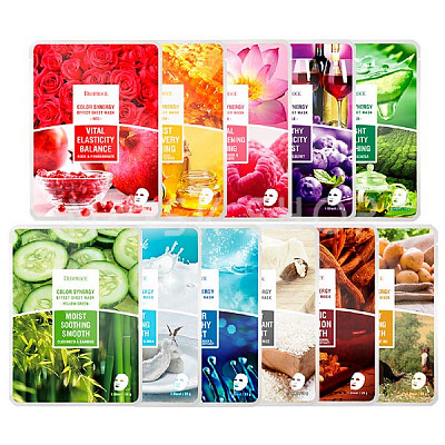 Тканевые маски Deoproce Color Synergy Effect Sheet Mask
