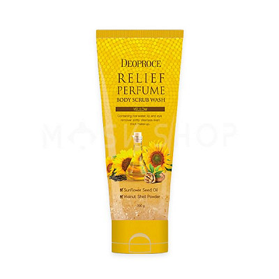 Скраб для тела с маслом подсолнуха Deoproce Relief Perfume Body Scrub Wash