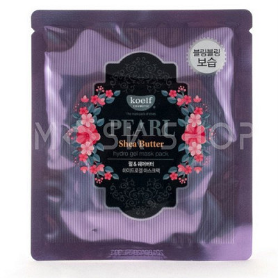 Гидрогелевая маска с экстрактом жемчуга и масла ши Koelf Pearl Shea Butter Hydro Gl Mask Pack